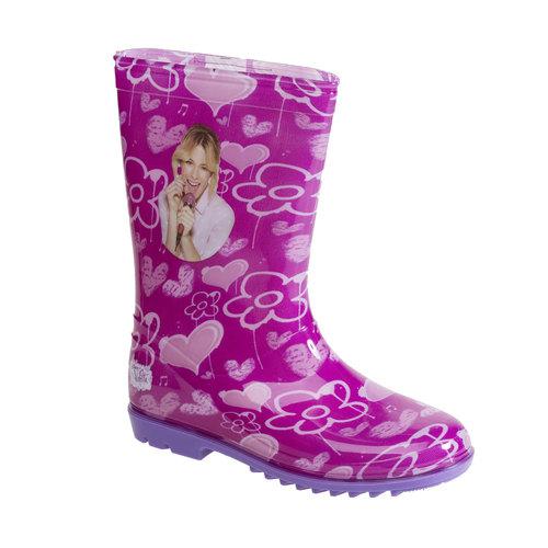 Stivali di gomma da bambino con fiori violetta, viola, 392-9189 - 13