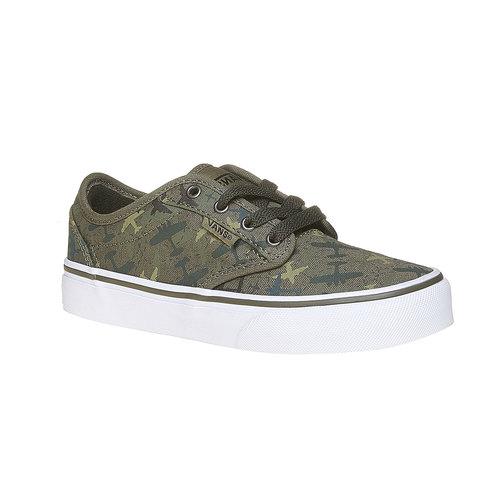 Sneakers informali da bambino vans, verde, 409-2234 - 13