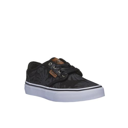 Sneakers da bambino con stampa vans, nero, 489-6198 - 13