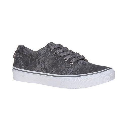 Sneakers in pelle da donna con motivo di serpente vans, grigio, 503-2311 - 13