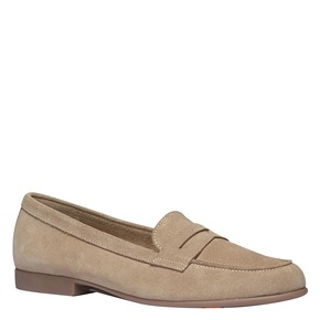 Penny Loafer di pelle flexible, beige, 513-8196 - 13