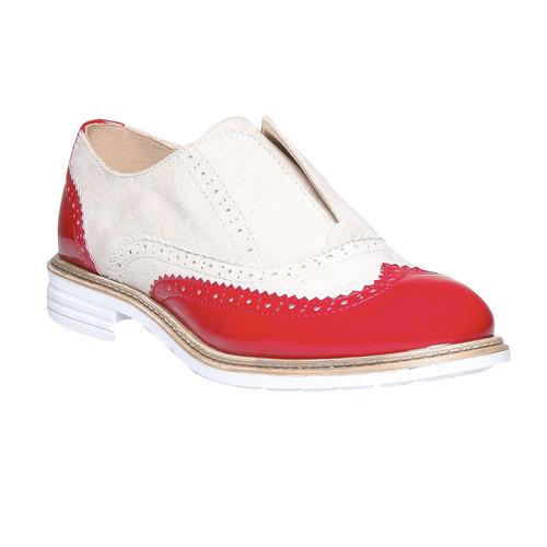 Scarpe basse da donna con decorazione bata, rosso, 519-5213 - 13