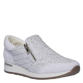 Sneakers dal design intrecciato north-star, bianco, 531-1114 - 13