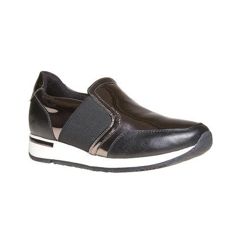 Sneakers da donna con riflessi metallici north-star, grigio, 541-2267 - 13