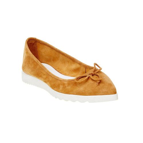 Ballerine a punta bata, marrone, 529-3494 - 13