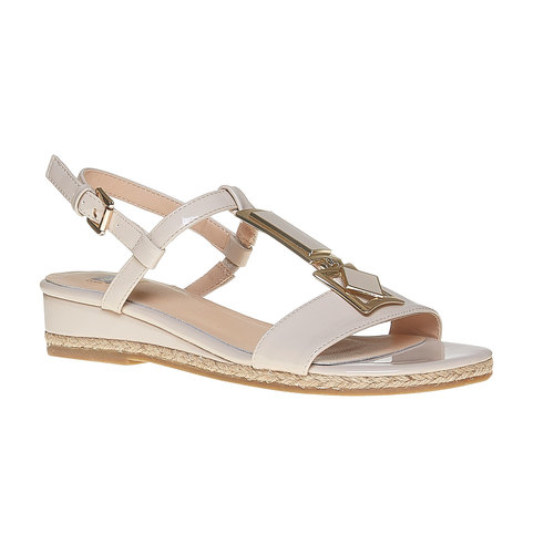 Sandali con cinturino sul collo del piede bata, beige, 561-8350 - 13