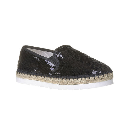 Slip-on da donna con paillettes bata, nero, 559-6102 - 13