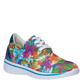 Sneakers da donna con motivo floreale north-star, viola, 549-9230 - 13