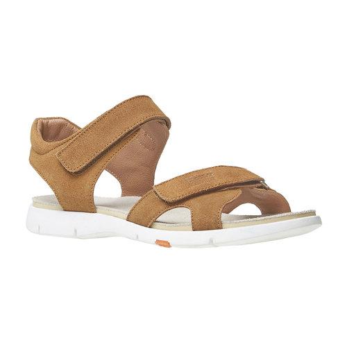 Sandali da donna in pelle flexible, marrone, 563-4397 - 13