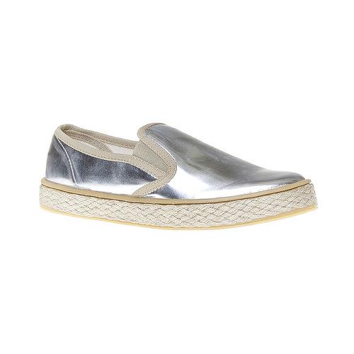 Slip-on argentate da donna north-star, bianco, 551-1104 - 13