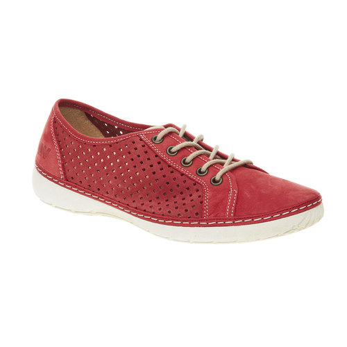Sneakers di pelle weinbrenner, rosso, 546-5238 - 13
