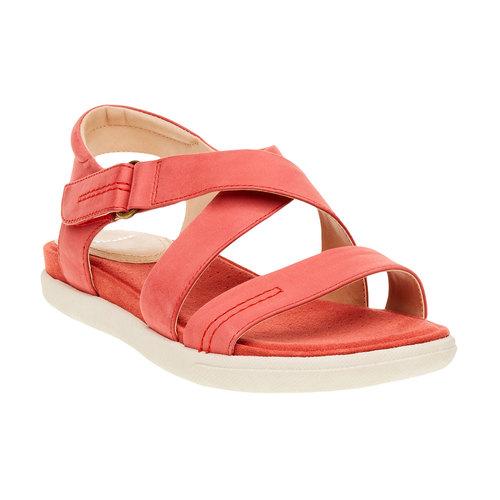 Sandali rossi da donna in pelle bata, rosso, 564-5351 - 13