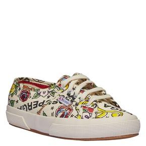 Sneakers con stampa colorata superga, bianco, 589-1219 - 13