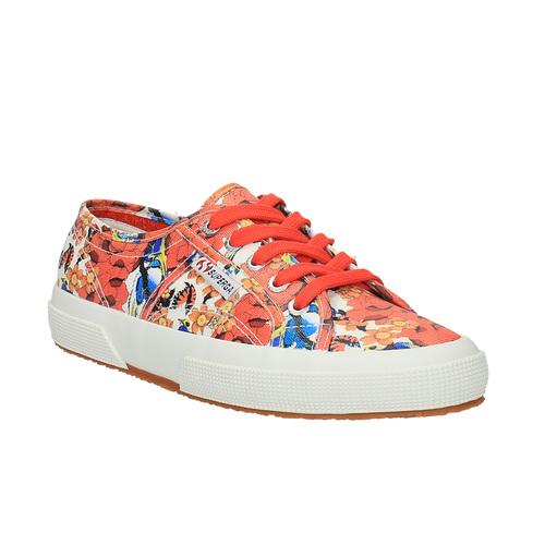 Sneakers da donna con stampa colorata superga, rosso, 589-5219 - 13