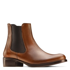 Scarpe di pelle in stile Chelsea bata, marrone, 594-4448 - 13