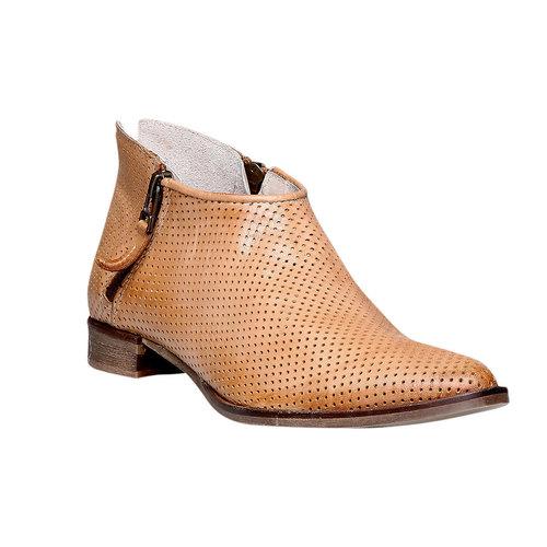 Stivaletti di pelle alla caviglia bata, marrone, 594-3400 - 13