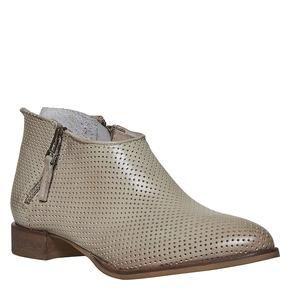 Stivaletti di pelle alla caviglia bata, beige, 594-2400 - 13
