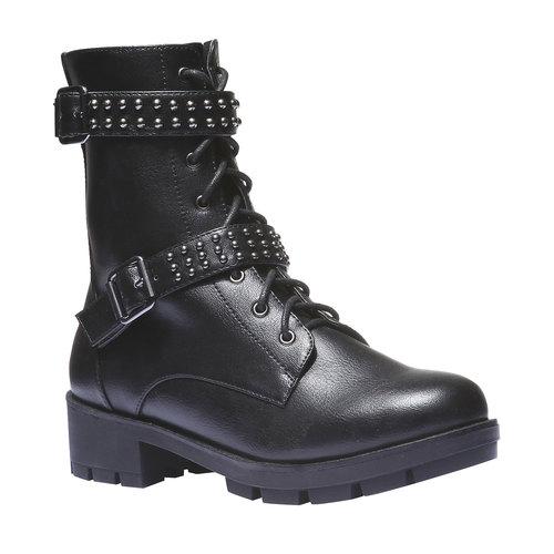 Scarpe da donna con lacci bata, nero, 691-6152 - 13