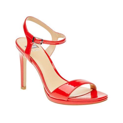 Sandali da donna con tacco a spillo bata, rosso, 761-5550 - 13