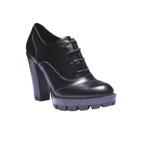 Scarpe basse da donna con suola massiccia bata, nero, 721-6711 - 13
