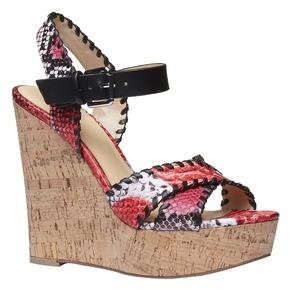 Sandali da donna con plateau bata, rosso, 761-5527 - 13