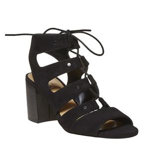 sandalo da donna con tacco bata, nero, 769-6536 - 13