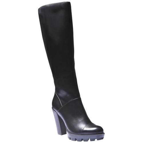 Stivali con suola originale bata, nero, 791-6574 - 13
