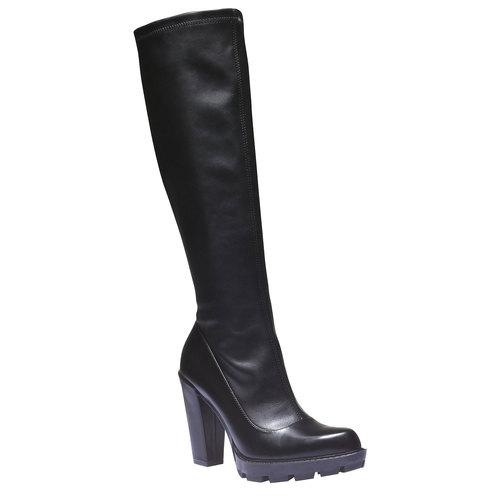 Stivali con suola massiccia bata, nero, 791-6591 - 13