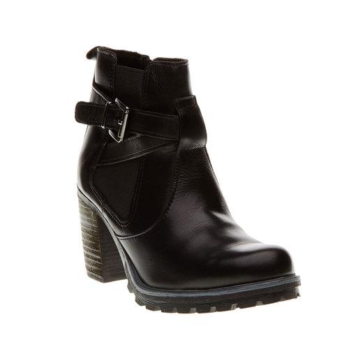 Scarpe in pelle alla caviglia bata, nero, 794-6167 - 13