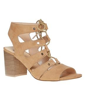 Sandali con lacci bata, beige, 769-8536 - 13