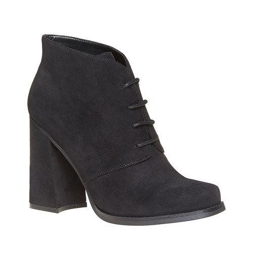 Scarpe basse da donna con tacco ampio bata, nero, 799-6430 - 13