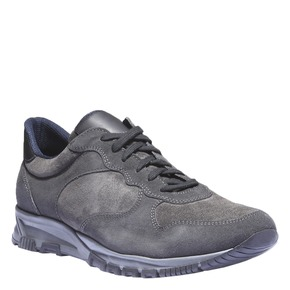 Sneakers di pelle bata, grigio, 843-2449 - 13