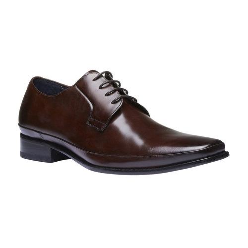 Scarpe basse di pelle in stile Derby bata, marrone, 824-4550 - 13