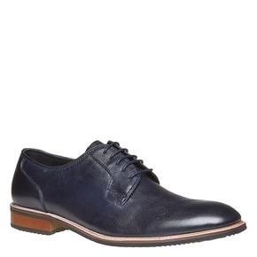 Scarpe di pelle in stile Derby bata, blu, 824-9280 - 13