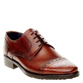 Scarpe basse da uomo in pelle con decorazione bata, marrone, 824-4809 - 13