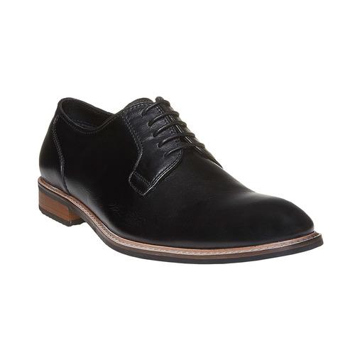 Scarpe basse da uomo in pelle in stile Derby bata, nero, 824-6280 - 13