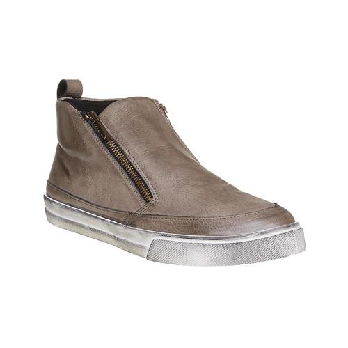Scarpe da uomo alla caviglia con cerniere north-star, beige, 841-2684 - 13