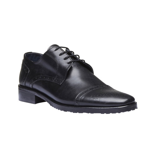 Scarpe basse di pelle in stile Derby bata, nero, 824-6809 - 13