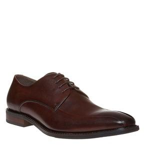 Scarpe basse di pelle in stile Derby bata, marrone, 824-4311 - 13