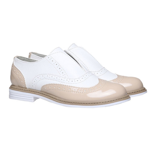 Scarpe basse da bambino in stile Spectator shoes mini-b, rosso, 321-5178 - 26