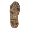Scarpe da bambino in pelle con suola appariscente weinbrenner-junior, rosso, 396-5182 - 26