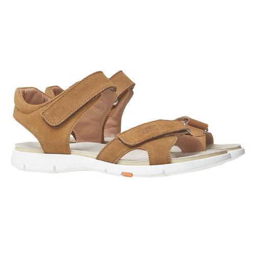 Sandali da donna in pelle flexible, marrone, 563-4397 - 26