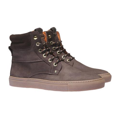 Scarpe di pelle alla caviglia weinbrenner, marrone, 896-4389 - 26