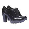 Scarpe basse da donna con suola massiccia bata, nero, 721-6711 - 26