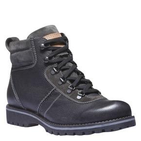 Scarpe di pelle alla caviglia bata, nero, 894-6343 - 13