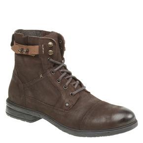 Scarpe di pelle alla caviglia bata, marrone, 894-4165 - 13