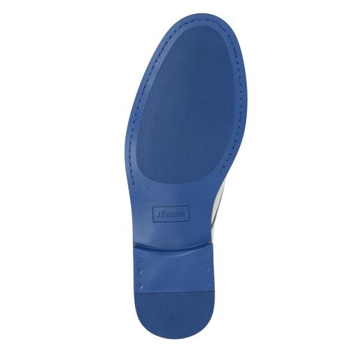Scarpe basse di pelle con suola colorata bata, grigio, 826-2839 - 26
