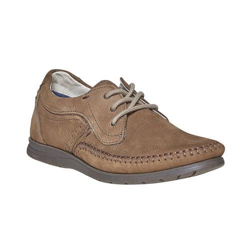 Scarpe basse informali di pelle bata-comfit, marrone, 856-3183 - 13