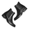 Scarpe di pelle in stile Chelsea bata, nero, 594-6448 - 26