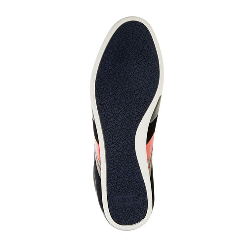 Sneakers informali di pelle levis, nero, blu, 844-9260 - 26